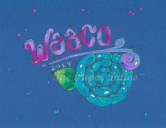Ink & Colored graphite 'Word' Design ~ 'waaco' www.thepapertattoo.com