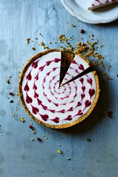Pistachio, Pomegranate and Clementine No-Bake Cheesecake