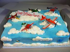 Birthday Cake Boys Airplane Disney Planes Ideas For 2019 – Geburtstagskuchen Airplane Birthday Cakes, Cool Birthday Cakes, 4th Birthday Parties, Birthday Fun, Birthday Ideas, Airplane Cakes, Disney Planes Cake, Disney Planes Birthday, Disney Cakes Easy