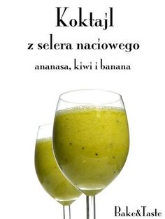 Koktajl z selera naciowego i owocw Celery / fruits cocktail Easy Healthy Smoothie Recipes, Healthy Desserts, Healthy Drinks, Vegan Recipes, Healthy Food, Juice Smoothie, Smoothie Drinks, Fruit Smoothies, Kiwi And Banana