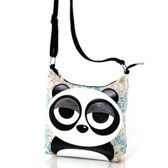 5dbe5de49550 Sleepy Eyed Panda Bear Canvas Cross Body Shoulder Bag   Visit the image  link more details. Amber Lacy · Handbags Shoulder Bags
