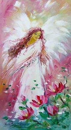 Angel by Viola Sado Angel Stories, Angel Artwork, Angel Paintings, Angel Guidance, I Believe In Angels, Angel Crafts, Angel Pictures, Angels Among Us, Guardian Angels