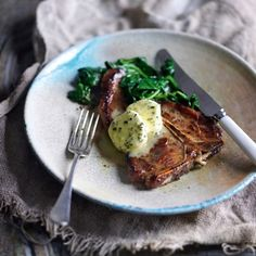 Veal Chops With Rosemary-And-Thyme Butter