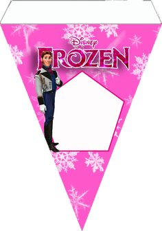 Frozen in Pink:Free Printable Bunting.