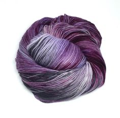 Aria is a skein with burgundy, purple, lavender, and silver gray.Variations can occur between skeins since they are all dyed one by one.It's recommended that you wash your finish item by hand and lay flat to dry. This yarn was dyed using professional acid dyes. Although I rinse my skeins well, some bleeding may occur.Use the drop down menu to see what yarn base is available. I try my best to portray colors accurately. Colors on computer monitors and mobile devi...