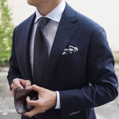 Every man needs a smart blue suit and tie