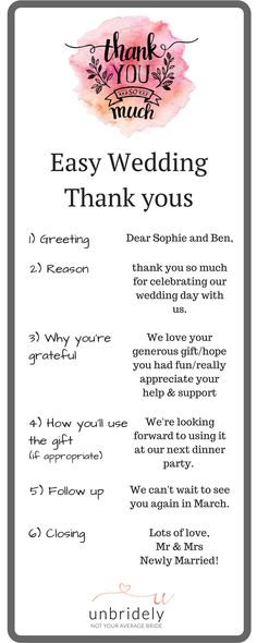These Wedding Thank-You Note Templates Are Legit Essential Notes - best of thank you letter format wedding