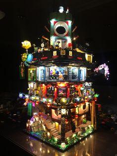 Lego ninjago city 70620 with light
