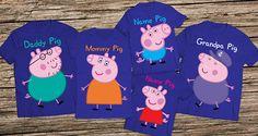 Peppa pig family shirts Daddy pig shirt Peppa pig birthday