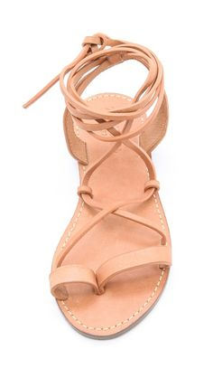 strappy leather summer sandals