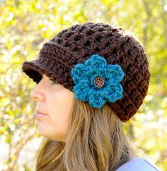 Crochet Hat for Women Womens Fashion Brimmed by SimplyMadeByErin, $36.00