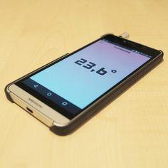 Thermodo: Thermometer fürs Smartphone und Tablet Galaxy Phone, Samsung Galaxy, Thermometer, Smartphone, App, Blog, Cool Gadgets, Creative, Apps