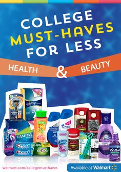 Enter the SheSpeaks Walmart #CollegeMusts Sweepstakes here: https://www.facebook.com/shespeaksup/app_515720611858523. And head to your local @walmart for all of the health & beauty #CollegeMusts.