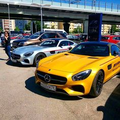 Silver or Yellow #AMGGTs - pic by @alex_alexeenko