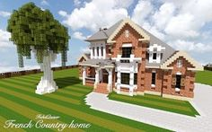 French Country Home minecraft house build