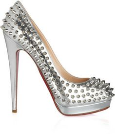 {Christian Louboutin Alti 160 Spiked Metallic Pumps}-50% off!