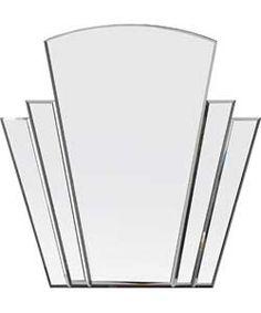 Heart of House Olivia Art Deco Wall Mirror - Silver.