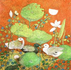 TRANSAVANTGARDE in Contemporary Indian Art | Paintings by Ashok Mullick, Ganesh Pyne, Jayasri Burman, K. Laxma Goud |