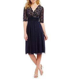 Jessica Howard Petite Surplice Bodice Dress