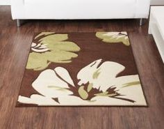Green U0026 Brown Living Room Ultimate Rug Co Rapello Amazone Chocolate / Green  Contemporary Rug