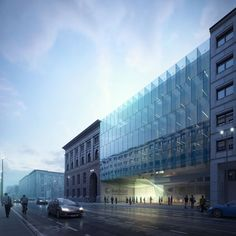 커튼월도 주목 할 만 하고 과거와 현대가 같이 있는 것도 주목 할 만 한듯 Бундесрат расширение | Bakpak архитекторы