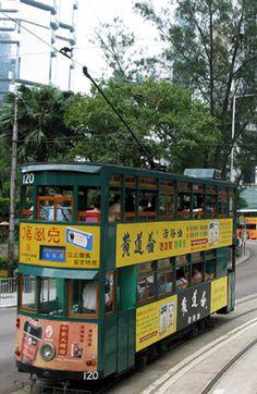 "Hong Kong ""ding ding"" trams"