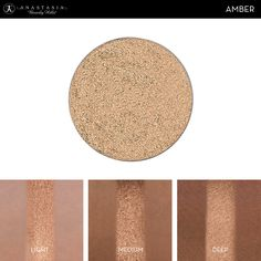 Eye Shadow Singles with skin swatch in the shade Amber
