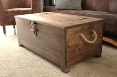 Rustic Wooden Chest Trunk Blanket Box Vintage Coffee Table Ottoman in Home, Furniture & DIY, Furniture, Tables | eBay!