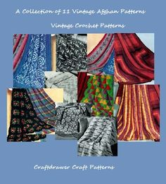 A Collection of 11 Vintage Crochet Afghan Patterns Crochet patterns blankets (Amazon Link)