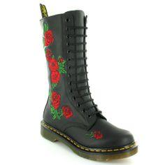Dr Martens Vonda Womens Modern Classics Rose 14-Eye Mid-calf Boots  $208.37
