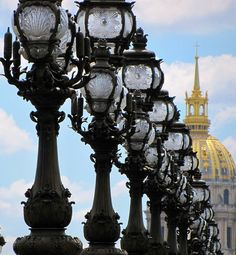 Oh là là indeed! love these ornate lamp posts le pont Alexandre III which i've up close or at a glimpse each time i visited paris -- photography by sandra leidhold