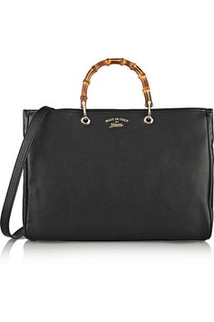 Gucci | Bamboo Shopper large textured-leather tote | NET-A-PORTER.COM