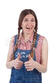 An Image Of A Redneck Hillbilly Woman Character Smiling With 2