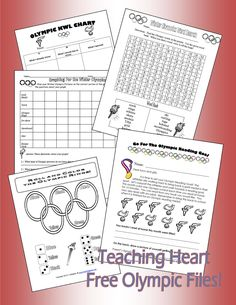 Olympics Dice Game and More FREE! - pinned by @PediaStaff – Please Visit ht.ly/63sNtfor all our pediatric therapy pins