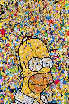 206 images about homero j. simpson 💛 on we heart it Simpson Wallpaper Iphone, Cartoon Wallpaper Iphone, Tumblr Wallpaper, Simpsons Drawings, Simpsons Art, Rick And Morty Poster, Collage, Joker Art, Cartoon Crossovers