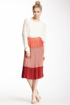 Corey Lynn Calter Colorblock Pleat Skirt on HauteLook