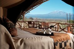 Satao Elerai Camp  in Amboseli National Park on a Kenya Safari Holiday .. I've always wanted to go on a Safari holiday!!!