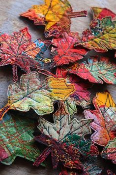 Autumn leaves of garbage /  A great way to recycle, this is simply an inspiration for us all to get creative ---