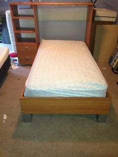 twin bed with nightstand/shelves surround - $150 (east ...