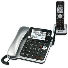 Corded Cordless Phone Combos: Atandt Cl84102 Dect 6.0 Expandable Corded/Cordless Phone With Answering System ... -> BUY IT NOW ONLY: $88.86 on eBay!