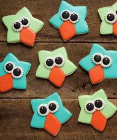 Cute Easy Owl Cookies with a Star Cookie