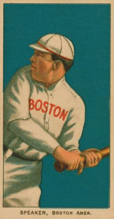 Boston Red Sox - Tris Speaker - 24 x 15 inch Baseball Card Print - Vintage 1908 on Etsy, $45.00