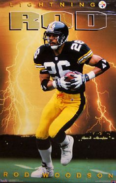 Rare ROD WOODSON LIGHTNING ROD Pittsburgh Steelers Football Poster (1994) - Sold for $36.90 May 2013