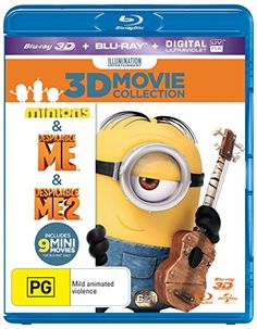 Minions / Despicable Me / Despicable Me 2 3D Blu-ray / Blu-ray