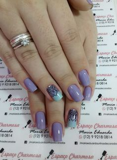 Degrade stamping Manicure Colors, Manicure And Pedicure, Nail Colors, Violet Nails, Purple Nails, Purple Nail Designs, Nail Art Designs, Nail Stamping, Short Nails