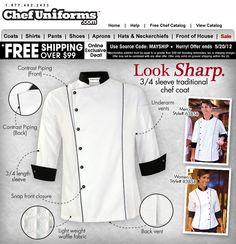 Uniformes para Chef desde USA pagando en Bsf.