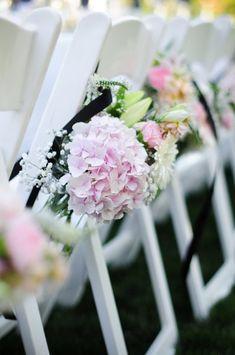 Aisle Marker Decor Ideas, Wedding Ceremony Photos by Larsen's Photography