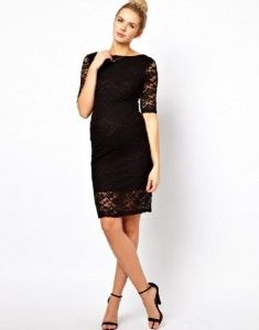 01caf86e45a8 black lace maternity dress Maternity Midi Dress