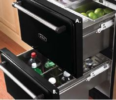 I want these refrigerated drawers installed in a kitchen island. This would be perfect as a sandwich station.