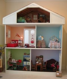 Custom Built Dollhouse for American Girl Dolls   eBay